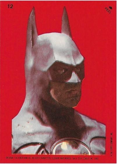 Batman / Batman Statue   Topps #12   Movie Trading Card   Sticker   1989   Michael Keaton
