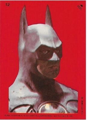 Batman / Batman Statue | Topps #12 | Movie Trading Card | Sticker | 1989 | Michael Keaton