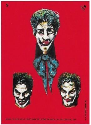 Batman / The Joker - Three Faces | Topps #9 | Movie Trading Card | Sticker | 1989