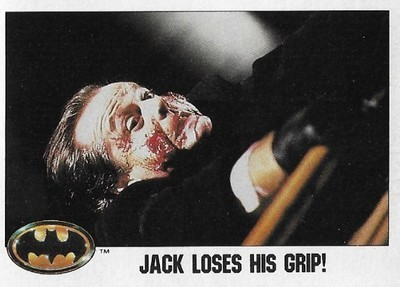 Batman / Jack Loses His Grip! | Topps #34 | Movie Trading Card | 1989 | Jack Nicholson
