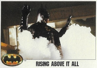 Batman / Rising Above It All | Topps #36 | Movie Trading Card | 1989 | Michael Keaton