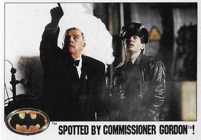 Batman / Spotted By Commissioner Gordon! | Topps #37 | Movie Trading Card | 1989 | Pat Hingle