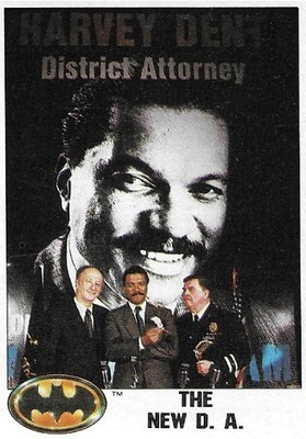 Batman / The New D.A. | Topps #20 | Movie Trading Card | 1989 | Billy Dee Williams, Lee Wallace, Pat Hingle