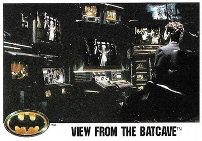 Batman / View From the Batcave | Topps #25 | Movie Trading Card | 1989 | Michael Keaton