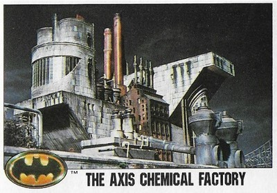 Batman / The Axis Chemical Factory | Topps #26 | Movie Trading Card | 1989