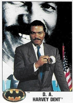 Batman / D.A. Harvey Dent | Topps #10 | Movie Trading Card | 1989 | Billy Dee Williams