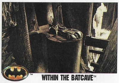 Batman / Within the Batcave | Topps #91 | Movie Trading Card | 1989 | Michael Keaton + Kim Basinger