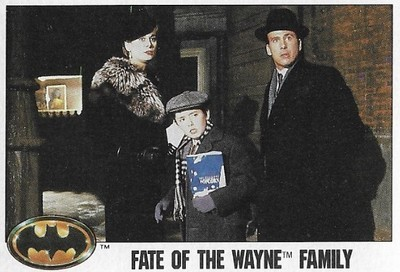 Batman / Fate of the Wayne Family | Topps #95 | Movie Trading Card | 1989 | Sharon Holm, Charles Roskilly + David Baxt