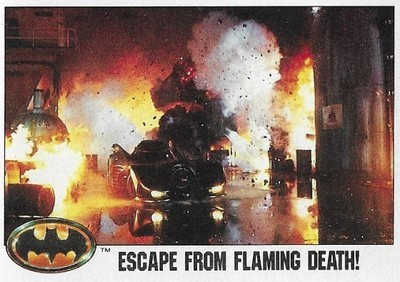 Batman / Escape From Flaming Death! | Topps #100 | Movie Trading Card | 1989