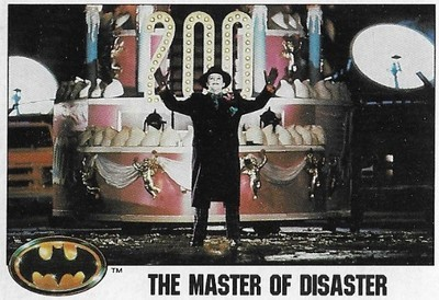 Batman / The Master of Disaster | Topps #101 | Movie Trading Card | 1989 | Jack Nicholson