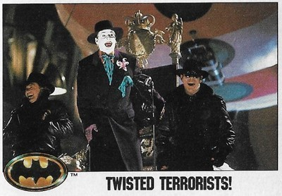 Batman / Twisted Terrorists! | Topps #103 | Movie Trading Card | 1989 | Jack Nicholson + Tracey Walter