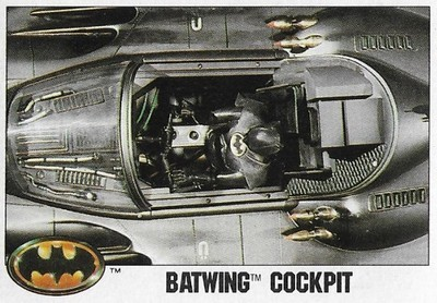 Batman / Batwing Cockpit | Topps #105 | Movie Trading Card | 1989 | Michael Keaton