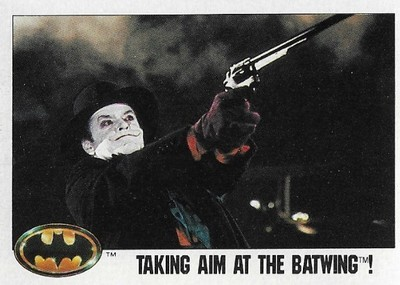 Batman / Taking Aim at the Batwing! | Topps #107 | Movie Trading Card | 1989 | Jack Nicholson