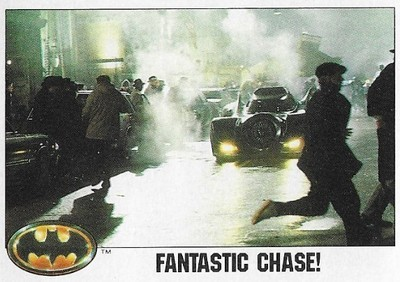 Batman / Fantastic Chase! | Topps #78 | Movie Trading Card | 1989