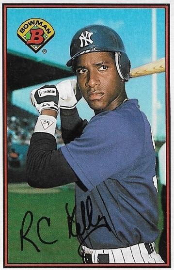 Kelly Roberto New York Yankees Bowman 183 Baseball Trading Card 1989