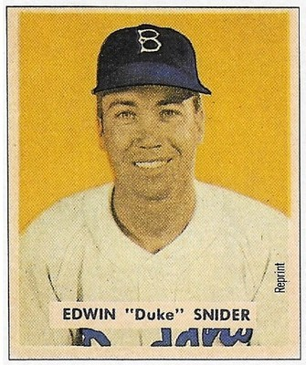 Snider, Duke / Brooklyn Dodgers | Bowman #No Number | Baseball Trading Card | 1989 | Hall of Famer
