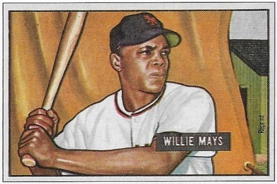Mays, Willie / New York Giants | Bowman #No Number | Baseball Trading Card | 1989 | Hall of Famer