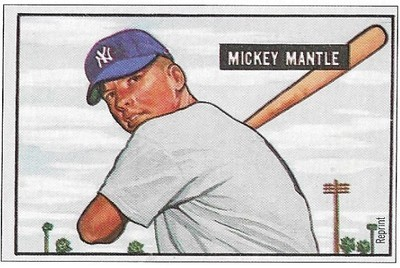 Mantle, Mickey / New York Yankees | Bowman #No Number | Baseball Trading Card | 1989 | Hall of Famer