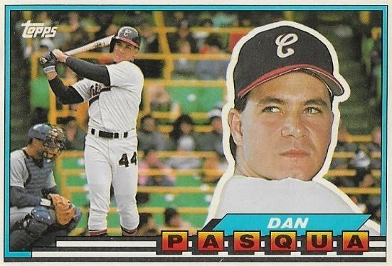 Pasqua Dan Chicago White Sox Topps 44 Baseball Trading Card 1989 Topps Big Series
