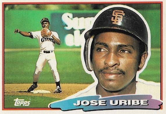Uribe Jose San Francisco Giants Topps 95 Baseball Trading Card 1988 Topps Big Series