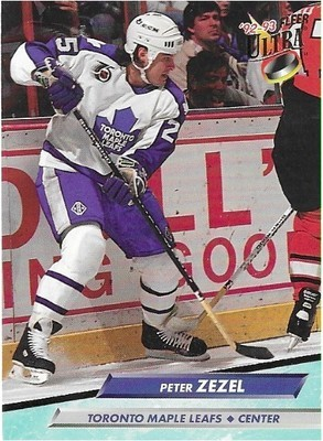 Zezel, Peter / Toronto Maple Leafs   Ultra #216   Hockey Trading Card   1992-93
