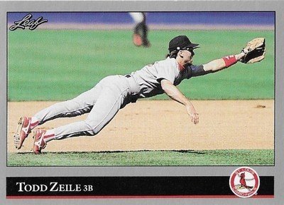Zeile, Todd / St. Louis Cardinals | Leaf #432 | Baseball Trading Card | 1992 | Series 2