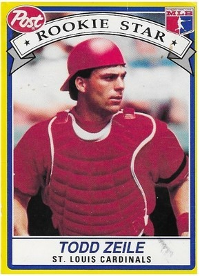 Zeile, Todd / St. Louis Cardinals | Post #25 | Baseball Trading Card | 1991 | Rookie Star