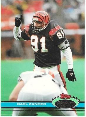 Zander, Carl / Cincinnati Bengals   Stadium Club #196   Football Trading Card   1991