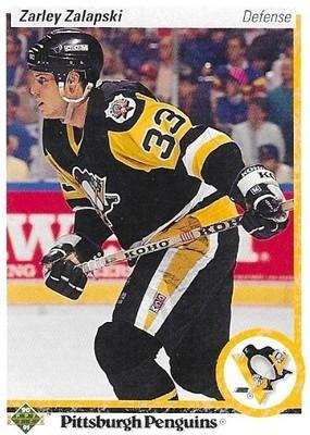 Zalapski, Zarley / Pittsburgh Penguins   Upper Deck #33   Hockey Trading Card   1990-91