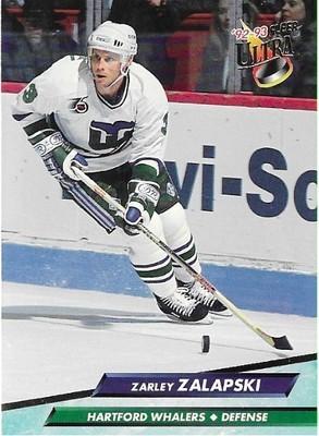 Zalapski, Zarley / Hartford Whalers   Ultra #77   Hockey Trading Card   1992-93