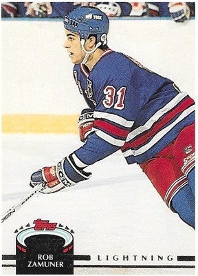 Zamuner, Rob / Tampa Bay Lightning   Stadium Club #439   Hockey Trading Card   1992-93   Rookie Card