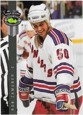 Zamuner, Rob / Binghampton Rangers   Classic Four Sport #211   Hockey Trading Card   1992
