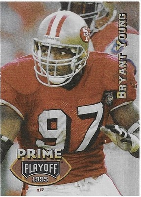 Young, Bryant / San Francisco 49ers | Playoff Prime #67 | Football Trading Card | 1995 | Tekchrome
