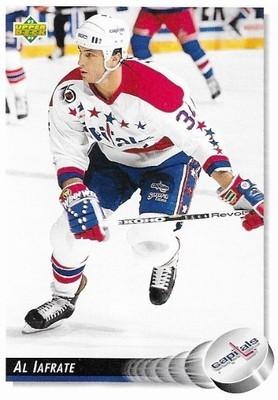Iafrate, Al / Washington Capitals   Upper Deck #54   Hockey Trading Card   1992-93