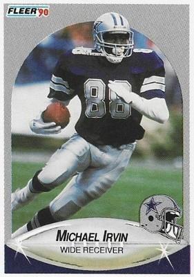 Irvin, Michael / Dallas Cowboys   Fleer #389   Football Trading Card   1990   Hall of Famer