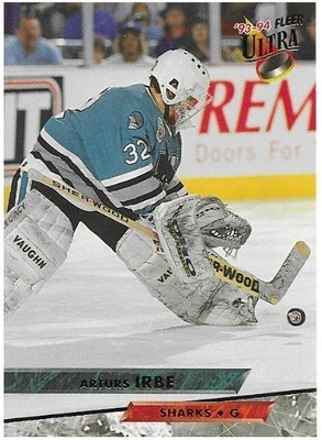 Irbe, Arturs / San Jose Sharks   Ultra #145   Hockey Trading Card   1993-94