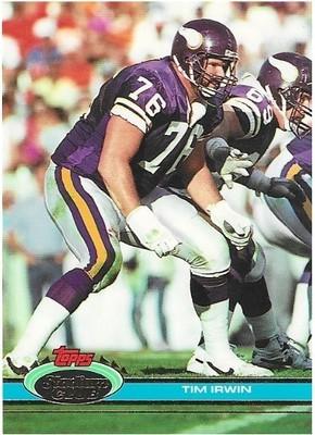 Irwin, Tim / Minnesota Vikings   Stadium Club #236   Football Trading Card   1991
