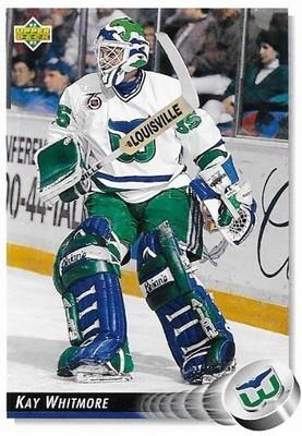 Whitmore, Kay / Hartford Whalers   Upper Deck #76   Hockey Trading Card   1992-93