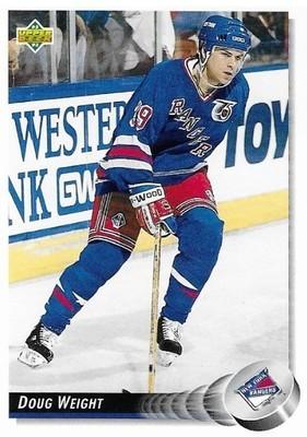 Weight, Doug / New York Rangers   Upper Deck #279   Hockey Trading Card   1992-93