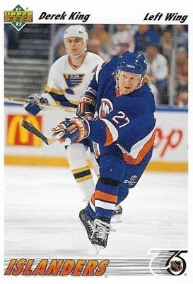 King, Derek / New York Islanders   Upper Deck #382   Hockey Trading Card   1991-92