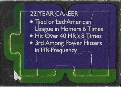 Killebrew, Harmon / Minnesota Twins   Leaf #43-44-45   Baseball Trading Card   1991   Puzzle Card   Hall of Famer