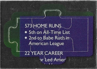 Killebrew, Harmon / Minnesota Twins   Leaf #34-35-36   Baseball Trading Card   1991   Puzzle Card   Hall of Famer