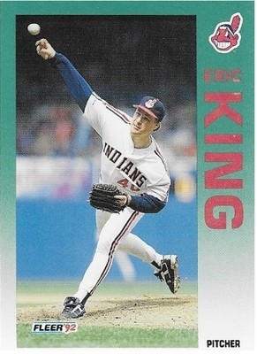 King, Eric / Cleveland Indians | Fleer #115 | Baseball Trading Card | 1992