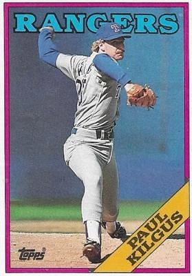 Kilgus, Paul / Texas Rangers | Topps #427 | Baseball Trading Card | 1988 | Rookie Card