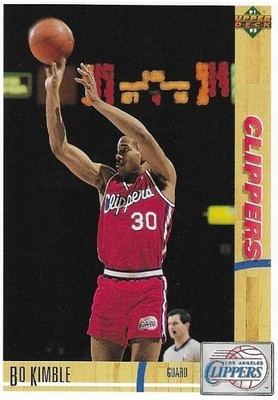 Kimble, Bo / Los Angeles Clippers | Upper Deck #114 | Basketball Trading Card | 1991-92