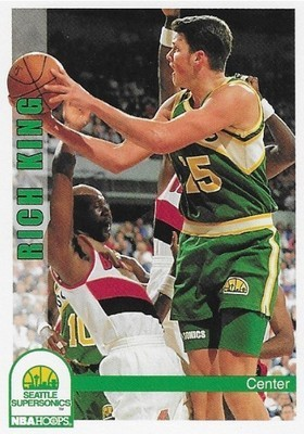 King, Rich / Seattle Supersonics | NBA Hoops #470 | Basketball Trading Card | 1992-93
