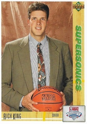 King, Rich / Seattle Supersonics | Upper Deck #8 | Basketball Trading Card | 1991-92 | Rookie Card
