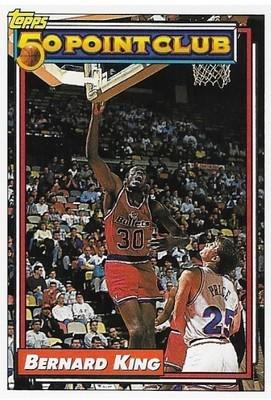 King, Bernard / Washington Bullets | Topps #202 | Basketball Trading Card | 1992-93 | Hall of Famer | 50 Point Club