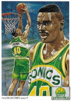 Kemp, Shawn / Seattle Supersonics | Upper Deck #96 | Basketball Trading Card | 1991-92 | The Collector's Choice