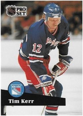 Kerr, Tim / New York Rangers | Pro Set #445 | Hockey Trading Card | 1991-92